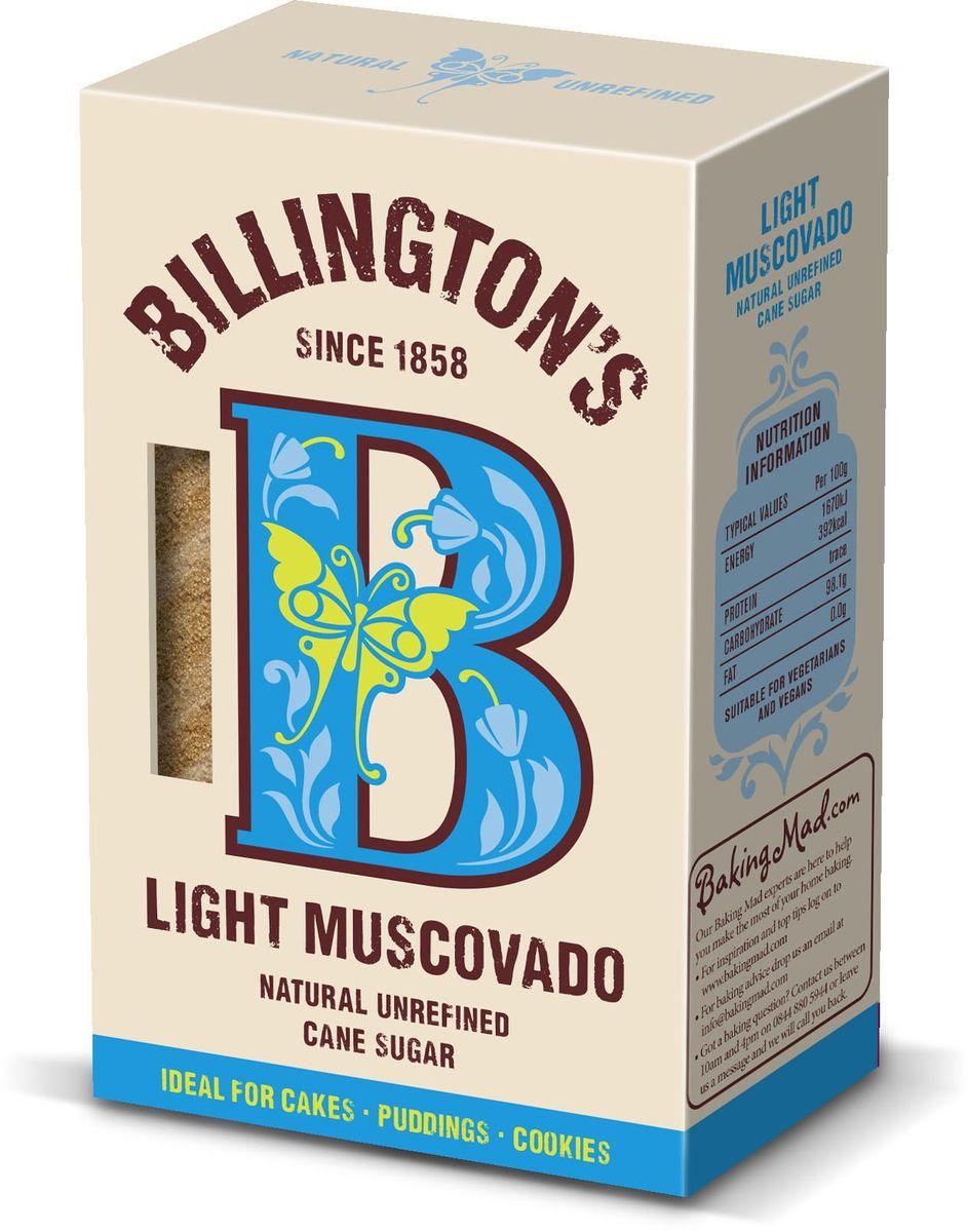Billington's Light Muscovado сахар нерафинированный, 500 г мистраль сахар коричневый демерара 500 г