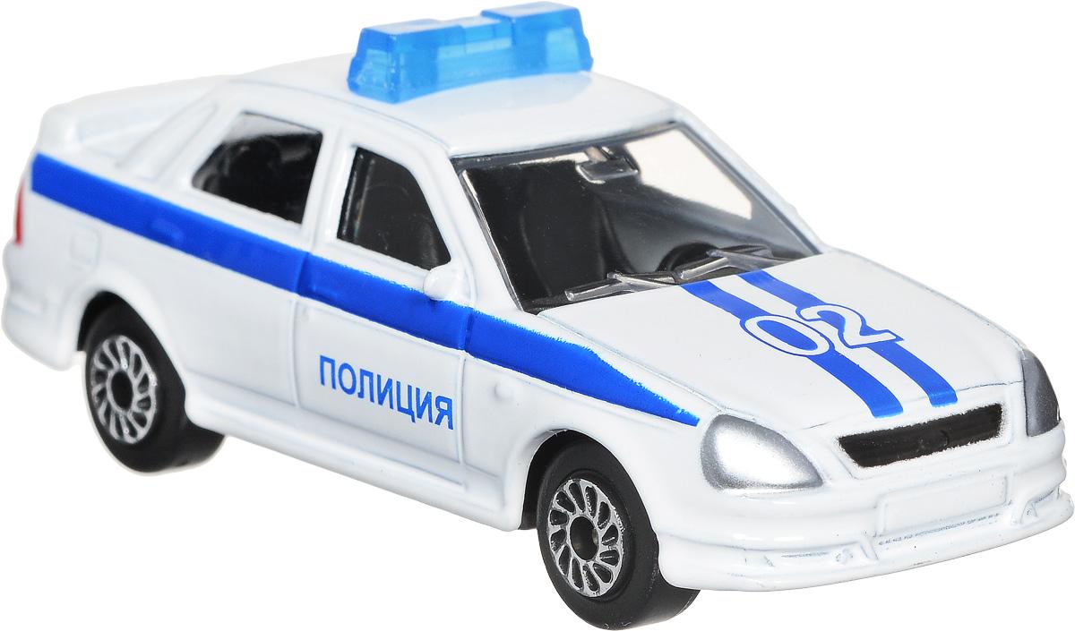 ТехноПарк Модель автомобиля Lada Priora Полиция цвет белый технопарк игровой набор полиция