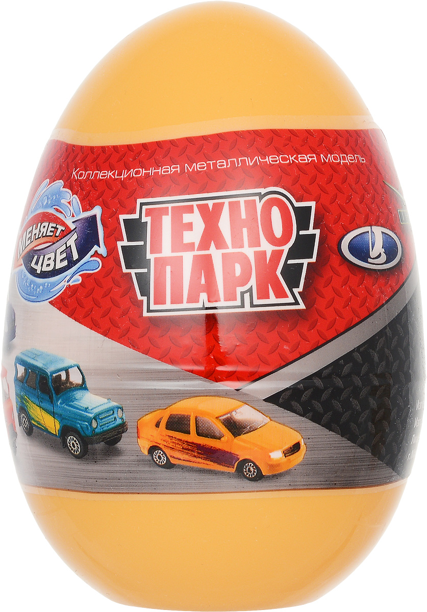 ТехноПарк Машинка УАЗ Лада цвет желтый машинка технопарк уаз патриот полиция 1 50