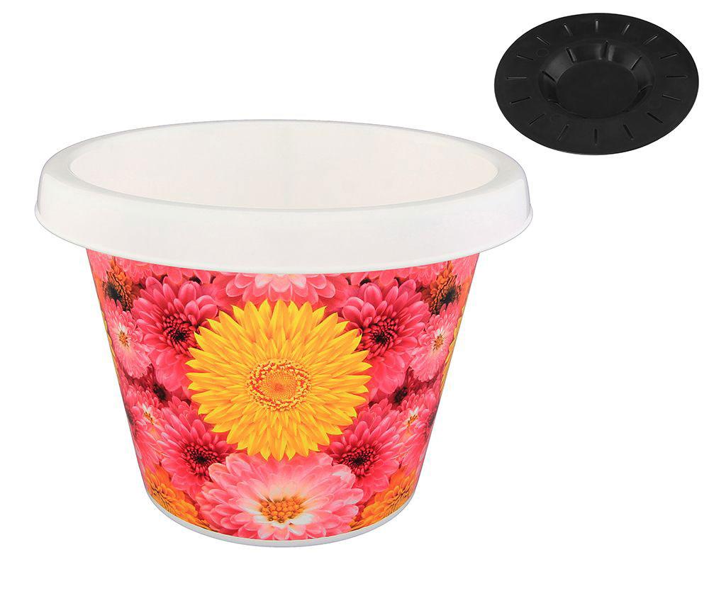 Кашпо Violet Хризантемы, с дренажной системой, 8 л30800/97Круглое кашпо Violet Хризантемы изготовлено из высококачественного пластика и оснащено дренажной системой для быстрого отведения избытка воды при поливе. Изделие прекрасно подходит для выращивания растений и цветов в домашних условиях. Объем: 8 л.