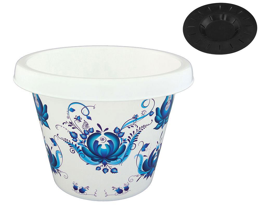 Кашпо Violet Гжель, с поддоном, 6 л30601/78Классическое кашпо с поддоном, выполненное из пластика, прекрасно подойдет для выращивания трав и цветов. Объём кашпо: 6 л.