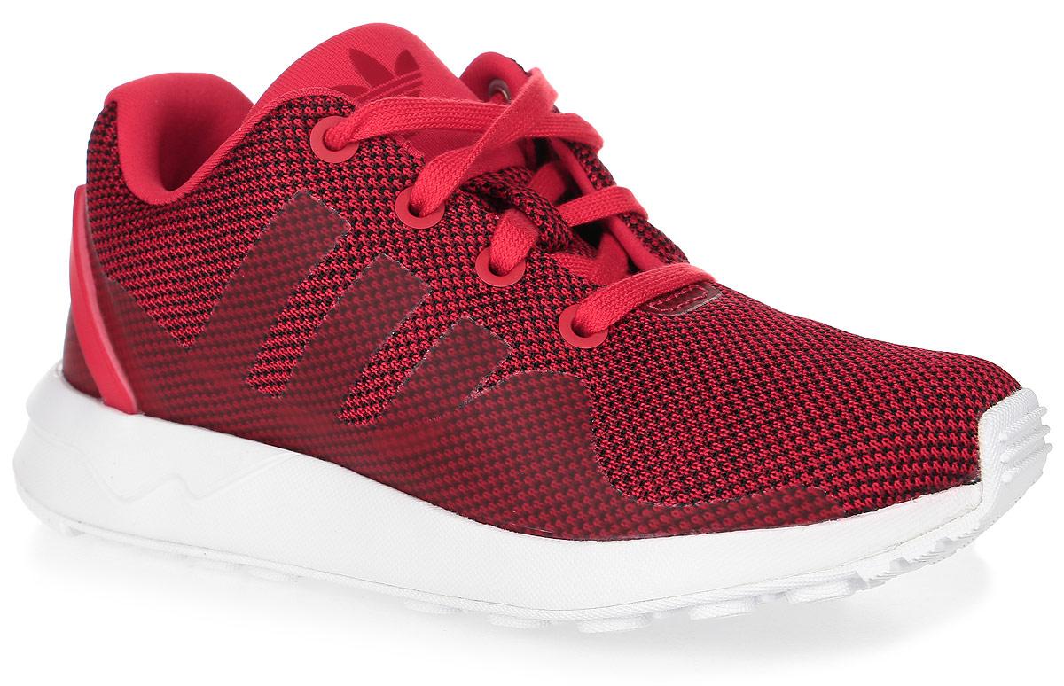 Кроссовки детские Adidas Zx Flux Adv Tech C, цвет: красный. S76431. Размер 35 (22)S76431Детские кроссовки Zx Flux Adv Tech C от Adidas выполнены из текстиля с элементами из резины и термополиуретана. Легкая литая промежуточная подошва из ЭВА сохраняет амортизирующие свойства в течение долгого срока. У модели мягкая текстильная подкладка. Дышащая амортизирующая стелька OrthoLite препятствует распространению бактерий, вызывающих запах, благодаря специальному составу с диметилоктадецил[3-(триметоксисилил)пропил]аммония хлоридом. Резиновая подошва оснащена протектором.
