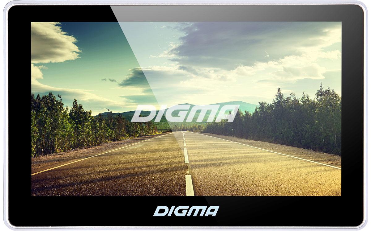 Digma Alldrive 500 , Black GPS навигаторALLDRIVE 500GPS навигатор Digma Alldrive 500 - это устройство, созданное для облегчения жизни автомобилистов и путешественников. Оснащенный программным обеспечением Navitel, девайс поможет вам всегда получать только актуальную и детализированную информацию о вашем местонахождении и без проблем добраться до места назначения. Голосовое оповещение предназначено для того, чтобы водитель был сконцентрирован только на дороге. Устройство имеет цветной 5 сенсорный дисплей с разрешением 480х272 пикселей. Работающий на базе операционной системы Windows CE 6.0, GPS навигатор Digma Alldrive 500 располагает большими мультимедийными возможностями. Быструю работу устройства обеспечивает процессор Mstar MSB2531, имеющий частоту 800 МГц, и оперативная память 128 МБ. Наличие собственной памяти 4 ГБ и возможность установить флеш-накопитель microSD до 32 ГБ позволяет помимо навигационных карт наполнить устройство медиафайлами. Аккумулятор емкостью 850 мА/ч позволяет навигатору работать до 2 часов автономного режима.
