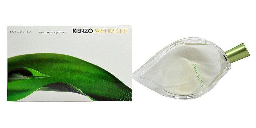 Kenzo DEte Парфюмерная вода женская, 75 мл06175Цветочный, зеленый аромат Dete от Kenzo чувственный и нежный. Словное теплое лето, аромат дарит зеленую свежесть и прекрасные ощущения. Благородный парфюм со светлыми, изысканными цветочными и зелеными нотками. Kenzo выпустил парфюм Dete в 1992 году и подарил ощущение лета круглый год. В парфюме Dete чувствуется свежий, легкий ветерок. Лучи солнца на спелом персике, на лепестке жасмина милая пчелка и капелька росы на молодом зеленом листике. Даже зимой, вдохнув этот чудный, волшебный аромат, он одарит всплеском эмоций и взрывом красок. Чувствуется ощущение безграничной свободы и счастья. Необычный дизайн флакона в виде листка создал известный Серж Мансо. Цветочную композицию создал Кристиан Матью. Спутнику понравится аромат Jungle pour homme. Нотки аромата Dete создают нежный ландыш, древесные сандал, кедр, мускус, божественная роза, иланг-иланг, ароматный персик, гиацинт, розовое дерево, пион, резеда, зелень. Дополняют ароматную мелодию нотки лотоса, амбры, ириса и цветки персика.