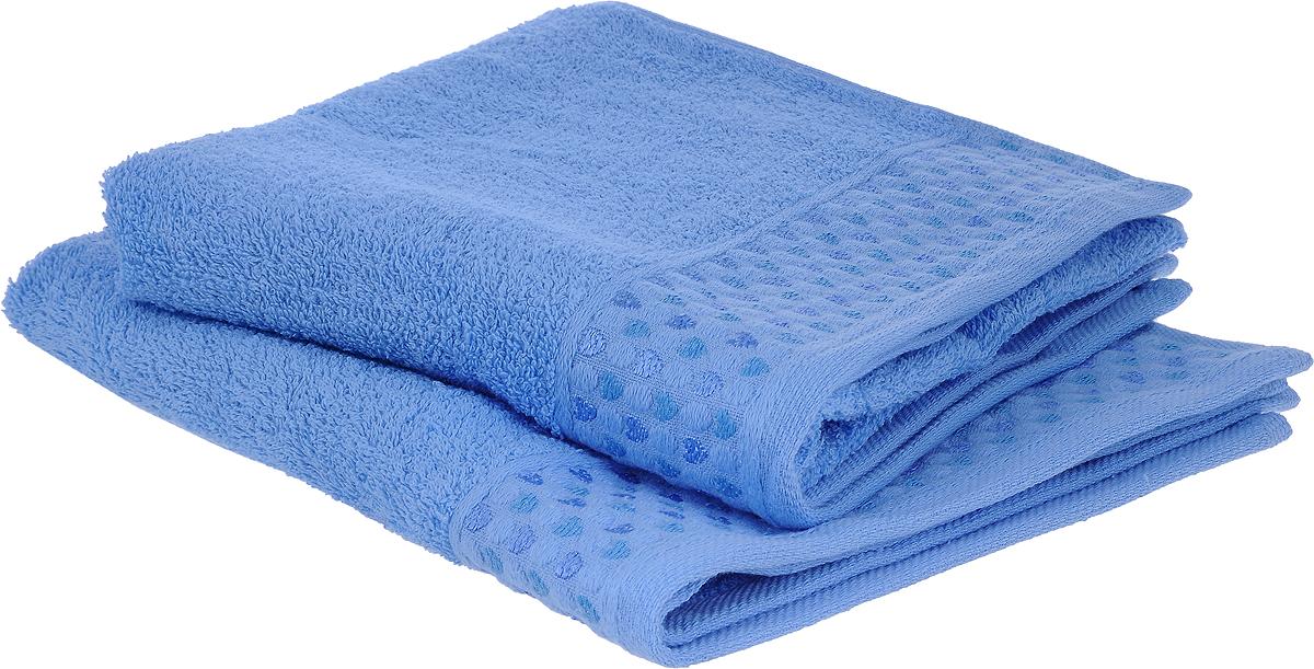 Набор полотенец Tete-a-Tete Сердечки, цвет: голубой, 50 х 90 см, 2 шт набор полотенец tete a tete сердечки цвет желтый бирюза 50 х 90 см 2 шт