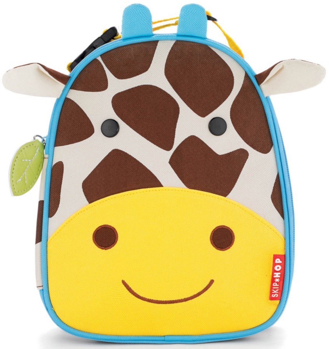 Skip Hop Сумка ланч-бокс детская ЖирафSH 212116Превосходный ланч-бокс Skip Hop Жираф отлично сохранит свежесть и вкус продуктов для вашего ребёнка. Сумка с одним отделением изготовлена из прочного текстиля. Лицевая сторона декорирована мордочкой жирафа с ушками и рожками. Внутренняя поверхность отделана термоизоляционным материалом, благодаря которому продукты дольше остаются свежими. Изделие закрывается на пластиковую застежку-молнию с удобным держателем на бегунке. Внутри имеется сетчатый карман для хранения аксессуаров и текстильная нашивка для записи имени владельца сумки. Ланч-бокс дополнен удобной текстильной ручкой с регулируемой длиной и пластиковым карабином. Такая сумка ланч-бокс пригодится везде: на прогулке, во время учебы, на отдыхе, во время путешествий.