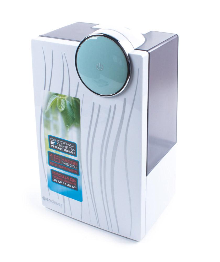 Endever Oasis-210 увлажнитель воздуха ультразвуковойOasis 210Увлажнитель воздуха Endever Oasis-210 представляет собой одно из самых современных на сегодняшний день ультразвуковых устройств,позволяющее быстро и эффективно повысить содержание водяного пара в помещении. Он качественно увлажняет, очищает и озонирует воздух,поддерживает необходимый уровень влажности, тем самым формирует наиболее благоприятную и комфортную для человека среду обитания.Самочувствие человека зависит не только от вешних факторов и экологии, но и от того микроклимата, который царит в доме, квартире идругих местах, где он проводит большую часть своего времени. Огромную роль в создании оптимального и здорового микроклимата играетуровень влажности и чистоты воздуха в помещении. Если дома постоянно пересыхает горло, кожа, волосы, появляется кашель, бессонница,аллергические реакции, часто болеют дети, несмотря на обильный полив, часто пересыхают домашние растения, растрескивается деревяннаямебель и полы, то, возможно, основной причиной этого является низкий уровень влажности воздуха. Оптимальным уровнем относительнойвлажности для человека является 45-65%.