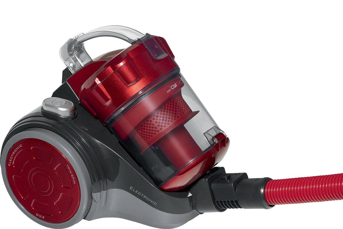 Clatronic BS 1302, Antrazit Red пылесосBS 1302 antrazit-rotС такой мощностью, которой обладает Clatronic BS 1302 все волнения по поводу уборки исчезнут как таковые. Теперь нет нужды каждый раз тщательно вычищать ковры щетками с моющими средствами, с пылесосом Clatronic BS 1302 вам остается лишь поддерживать видимость порядка.Технология Eco-Cyclon Twin Spin и отсутствие мешка для сбора пылиобеспечивают постоянную высокую мощность всасывания.