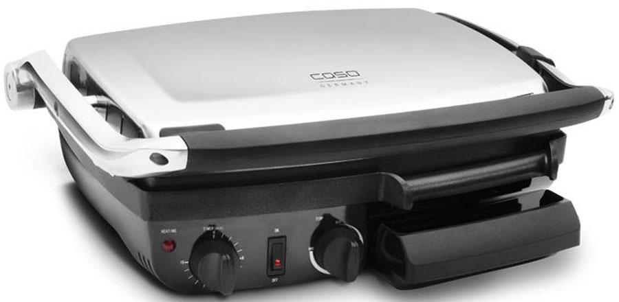 CASO BG 2000 грильBG 2000Контактный гриль CASO BG 2000 отлично подходит для приготовления на гриле и жарки панини, мяса, рыбы, овощей, омлета, картофельныхоладий и т.п. Гриль имеет три положения крышки: 90 ° открыто, 180 ° открыто, закрыто. Прочная панель гриля и жарки с антипригарнымпокрытием делает вашу еду еще вкуснее, не позволяя ей сгореть. Имеется плавная регулировка температуры.