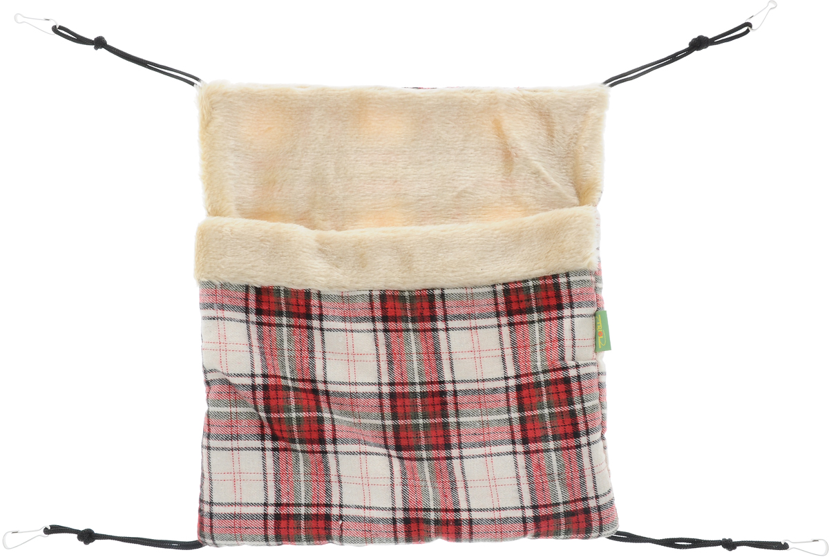 Гамак-карман для мелких животных Triol, 35 х 32 смTB-14Гамак-карман Triol подходит для крыс, хорьков, кроликов, морских свинок. Вся внутренняя поверхность его изготовлена из плюша, а внешняя из текстиля. Он просторный и теплый. Четыре веревочки с карабинами предназначены для подвешивания к клетке, можно подвесить вертикально или горизонтально.Украсьте клетку своего маленького любимца лежанкой с интересным решением в виде гамака и подарите грызуну немножко комфорта.Размер гамака: 35 х 32 см.