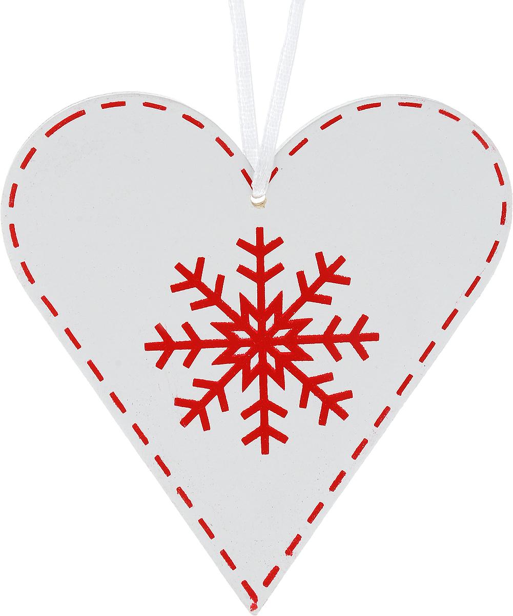 Украшение новогоднее подвесное Win Max Сердце со снежинкой, 11 х 12 см72821Новогоднее подвесное украшение Win Max Сердце со снежинкой выполнено из МДФ в виде сердца. С помощью специальной петельки украшение можно повесить в любом понравившемся вам месте. Но, конечно, удачнее всего оно будет смотреться на праздничной елке.Елочная игрушка - символ Нового года. Она несет в себе волшебство и красоту праздника. Создайте в своем доме атмосферу веселья и радости, украшая новогоднюю елку нарядными игрушками, которые будут из года в год накапливать теплоту воспоминаний.
