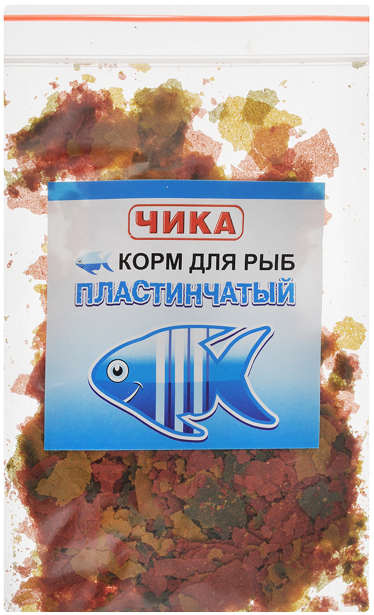Корм для рыб Чика, пластинчатый, 85 мл. 46070450602884607045060288Хлопьевидный корм для рыб Чика - это высококачественный корм, состоящий из натуральных, растительных и животных ингредиентов. Уникальность этого корма заключается в том, что за счет содержания в нем натуральных вытяжек и добавок природных продуктов, он улучшает у рыб обмен веществ и аппетит, стимулирует яркость окраски. Хлопьевидный корм нельзя сыпать в воду прямо из банки. Рекомендуется брать его пальцами и разбрасывать по воде. Нормой считается количество корма, которое рыбы съедают за 2-3 минуты. При умеренном кормлении хлопьевидный корм не замутняет воду в аквариуме.Товар сертифицирован.