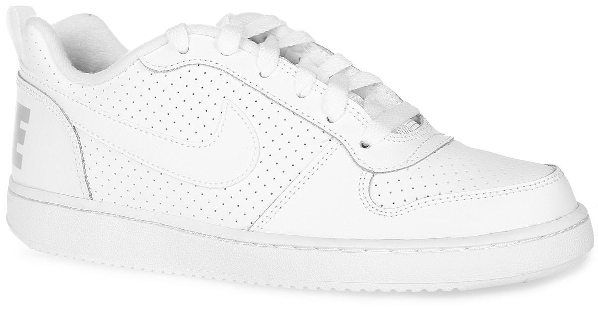 Кроссовки детские Nike Court Borough Low (GS), цвет: белый. 839985-100. Размер 7 (39) кроссовки nike кроссовки ld runner gs
