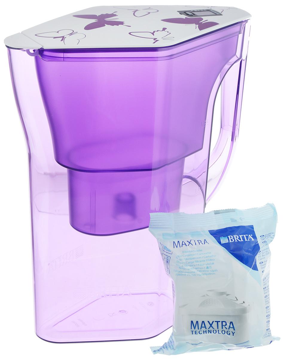 Фильтр-кувшин Brita Навелия, цвет: фиолетовый, 2,3 л4006387056001/1017319Фильтр-кувшин Brita Навелия, выполненный из пластика, станет необходимым помощником на вашей кухне. Вода, очищенная данным фильтром обладает рядом преимуществ:- улучшает вкус горячих и холодных напитков, - увеличивает срок службы бытовых приборов, препятствуя образованию накипи, - идеальна для приготовления вкусной и здоровой пищи, - придает более насыщенный вкус и аромат чаю и кофе. Технология фильтра Maxtra снижает содержание в воде таких веществ, как хлор, алюминий, тяжелые металлы (свинец и медь), некоторые пестициды и органические примеси. Также он отфильтровывает соли жесткости.Особенности данного фильтра: - только для Maxtra, - календарь: электронный индикатор ресурса кассеты будет автоматически напоминать вам о необходимости заменить кассету через каждые 4 недели использования, - эргономичный дизайн, - фильтр можно мыть в посудомоечной машине (за исключением крышки), - модель помещается в дверце холодильника.Фильтры Brita имеют уникальную систему очистки, которая помогает смягчить питьевую воду. Они предлагают идеальную возможность улучшить качество питьевой воды дома. Фильтры Brita не только снижают образование известкового налета (карбонатной жесткости), но также эффективно отфильтровывают хлор и металлы, например свинец и медь, которые могут содержаться в системе водопровода. Общий объем фильтра: 2,3 л.Полезный объем: 1,3 л.