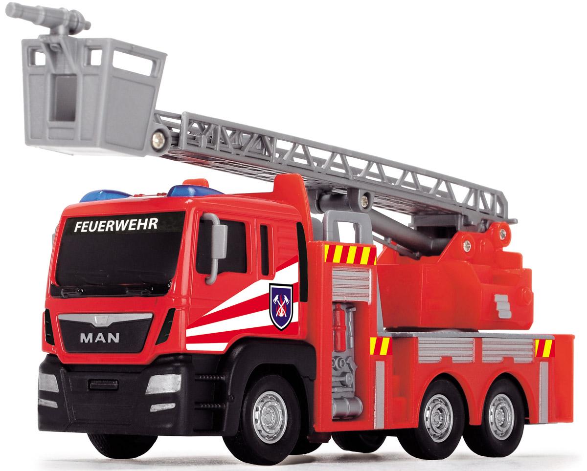 Dickie Toys Пожарная машинка Fire Engine цвет красный серый dickie toys машинка bumblebee tin box