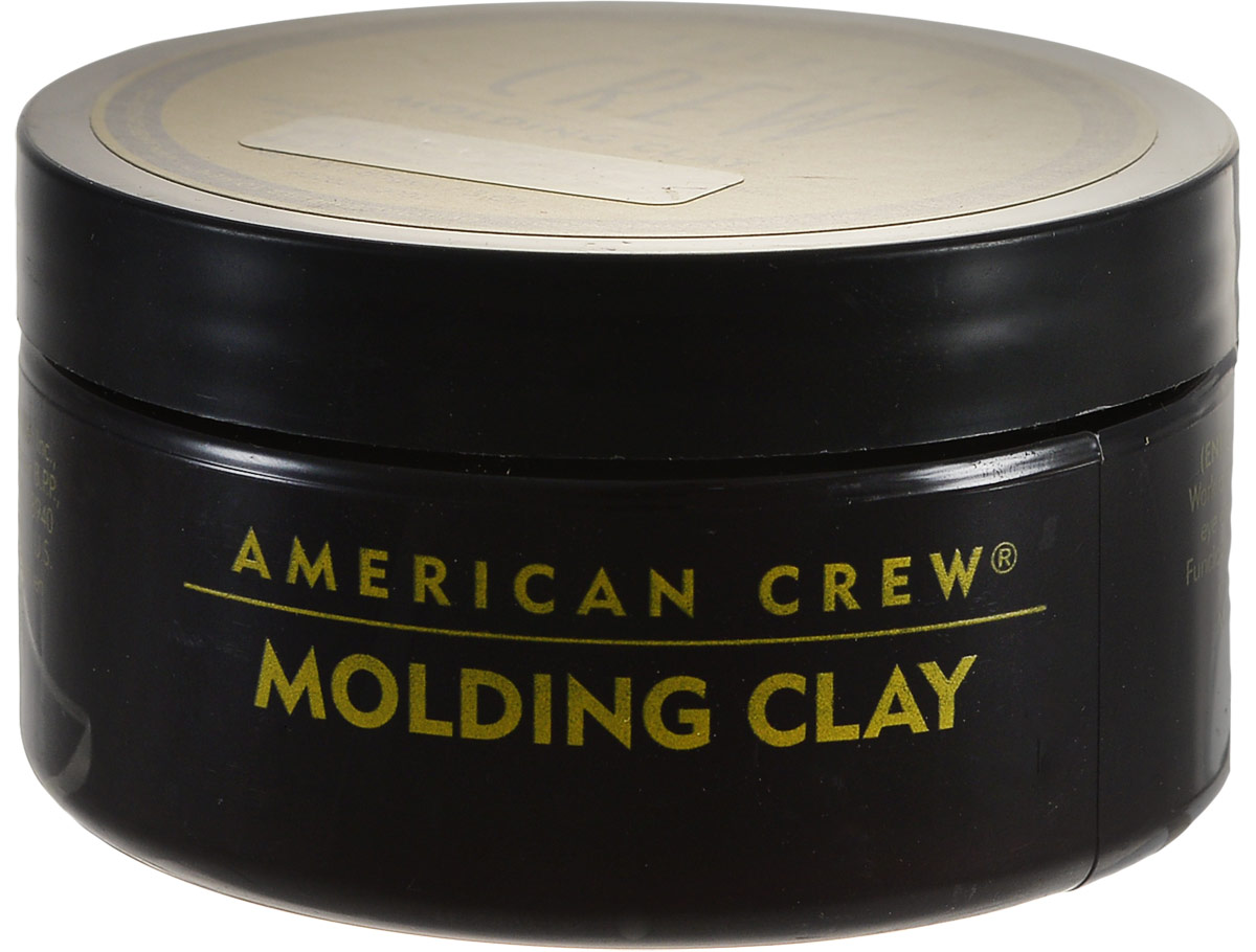American Crew Формирующая глина для укладки волос Classic Molding Clay 85 мл9034919022Моделирующая глина для укладки волос American Crew Classic Molding Clay идеально подходит для создания коротких причесок. Сильная фиксирующая способность косметического средства сочетается со средним уровнем блеска волос. Содержащиеся в составе натуральные экстракты и пчелиный воск позволяют сделать любую укладку. Рекомендуется использование формирующей глины тем, кто ищет продукты для стайлинга с натуральным легким ароматом или же часто занимается спортом.