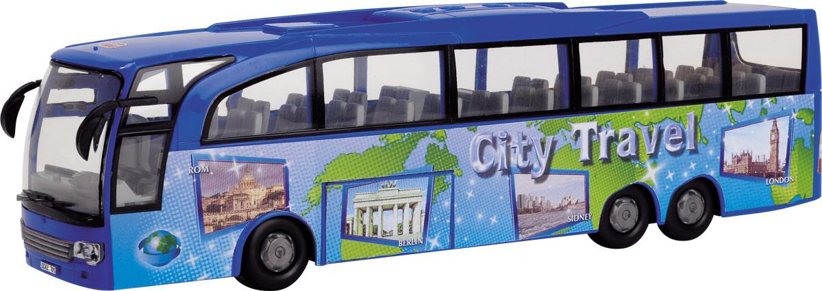 Dickie Toys Туристический автобус цвет синий dickie toys городской трамвай