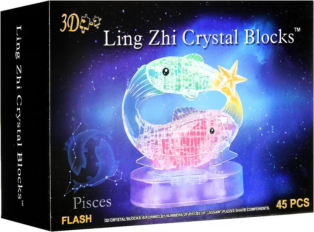 3D Ling Zhi Crystal Blocks 3D Пазл Рыбы с подсветкой