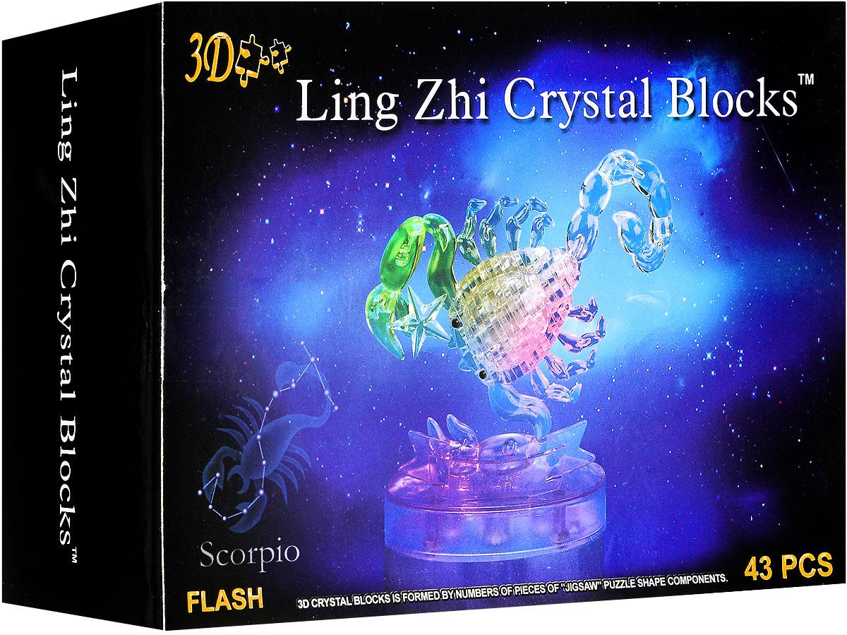 3D Ling Zhi Crystal Blocks 3D Пазл Скорпион с подсветкой
