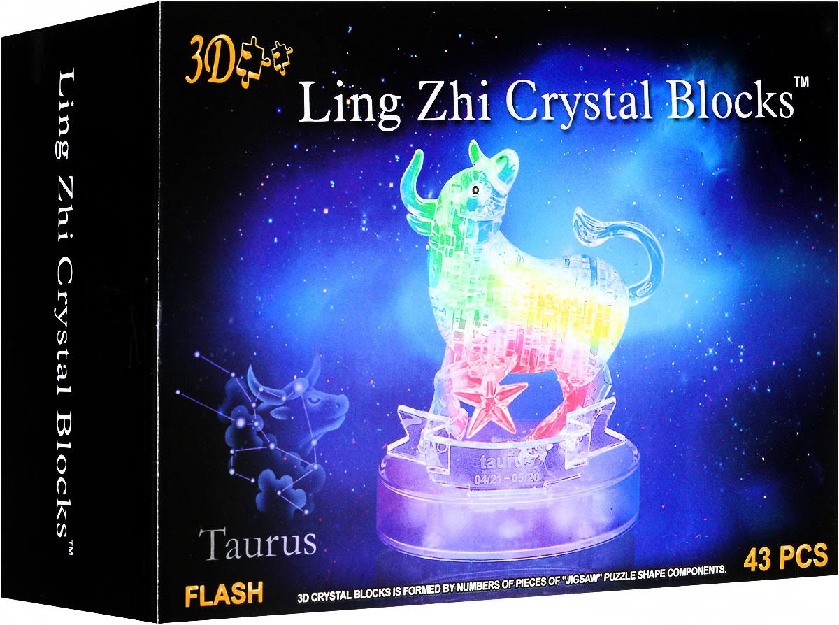 3D Ling Zhi Crystal Blocks 3D Пазл Телец с подсветкой