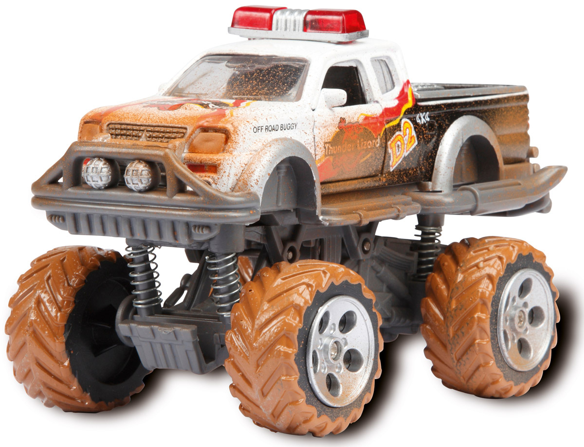 Dickie Toys Внедорожник Rally Monster цвет белый забавные машинки dickie с заводным механизмом