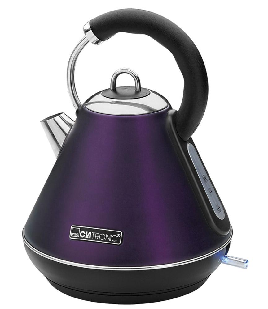 Clatronic WKS 3625, Brombeer чайникWKS 3625 brombeerClatronic WKS 3625 - новая модель чайника от знаменитого бренда Clatronic.Он не только станет вашим главным помощником на кухне, но и украсит ее. Стильный корпус этого приборавыполнен из высококачественной нержавеющей стали. Скрытый нагревательный элемент устройства выполнен из нержавеющей стали, что гарантирует его надежностьи долговечность. Чайник очень удобно использовать благодаря круглой подставке (на ней прибор можноповорачивать на 360°)