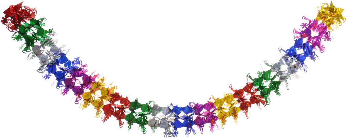 Гирлянда новогодняя B&H Снежинка, 24 см х 2,3 мBH1238_СнежинкаДекоративная новогодняя гирлянда B&H Снежинка, выполненная из разноцветной фольги, прекрасно подойдет для праздничного декора дома. С помощью специальной петельки гирлянду можно подвесить в любом понравившемся вам месте. Легко складывается и раскладывается.Новогодние украшения несут в себе волшебство и красоту праздника. Они помогут вам украсить дом к предстоящим праздникам и оживить интерьер по вашему вкусу. Создайте в доме атмосферу тепла, веселья и радости, украшая его всей семьей.