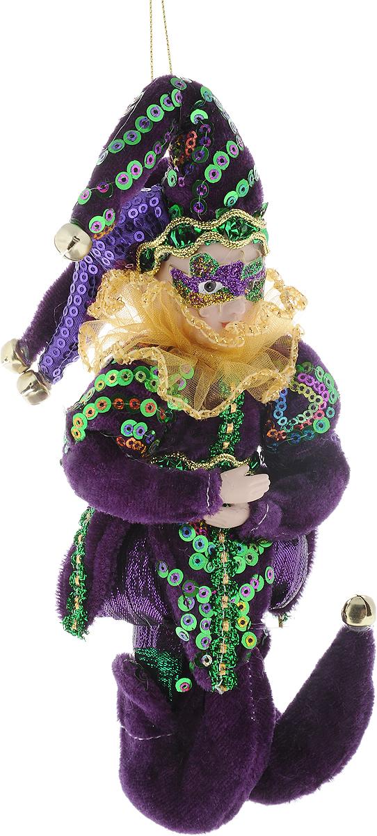 """Новогоднее подвесное украшение Christmas Time """"Шут""""  прекрасно подойдет для праздничного декора новогодней  ели. Изделие выполнено из текстиля и наполнено  синтепоном. Украшение армировано, то есть имеет  проволоку внутри и способно сохранять придаваемую ей  форму. Для удобного размещения на елке для украшения  предусмотрена петелька.  Елочная игрушка - символ Нового года. Она несет в себе  волшебство и красоту праздника. Создайте в своем доме  атмосферу веселья и радости, украшая новогоднюю елку  нарядными игрушками, которые будут из года в год  накапливать теплоту воспоминаний."""
