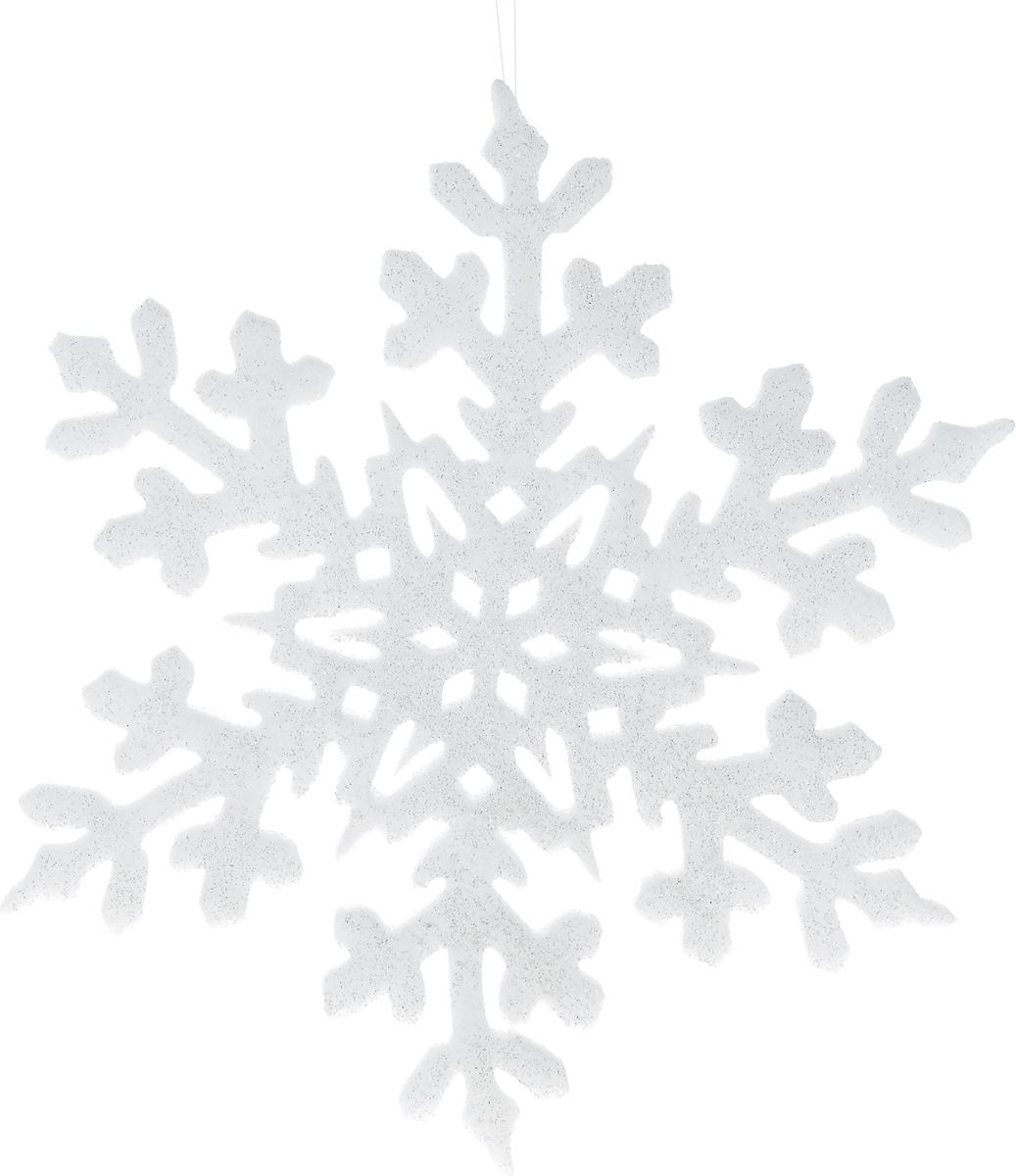 Украшение новогоднее подвесное Win Max Снежинка, диаметр 35 см171218Новогоднее подвесное украшение Win Max Снежинка прекрасно подойдет для праздничного декора новогодней ели. Изделие выполнено из пенопласта и украшено блестками. Для удобного размещения на елке для украшения предусмотрена петелька. Елочная игрушка - символ Нового года. Она несет в себе волшебство и красоту праздника. Создайте в своем доме атмосферу веселья и радости, украшая новогоднюю елку нарядными игрушками, которые будут из года в год накапливать теплоту воспоминаний.