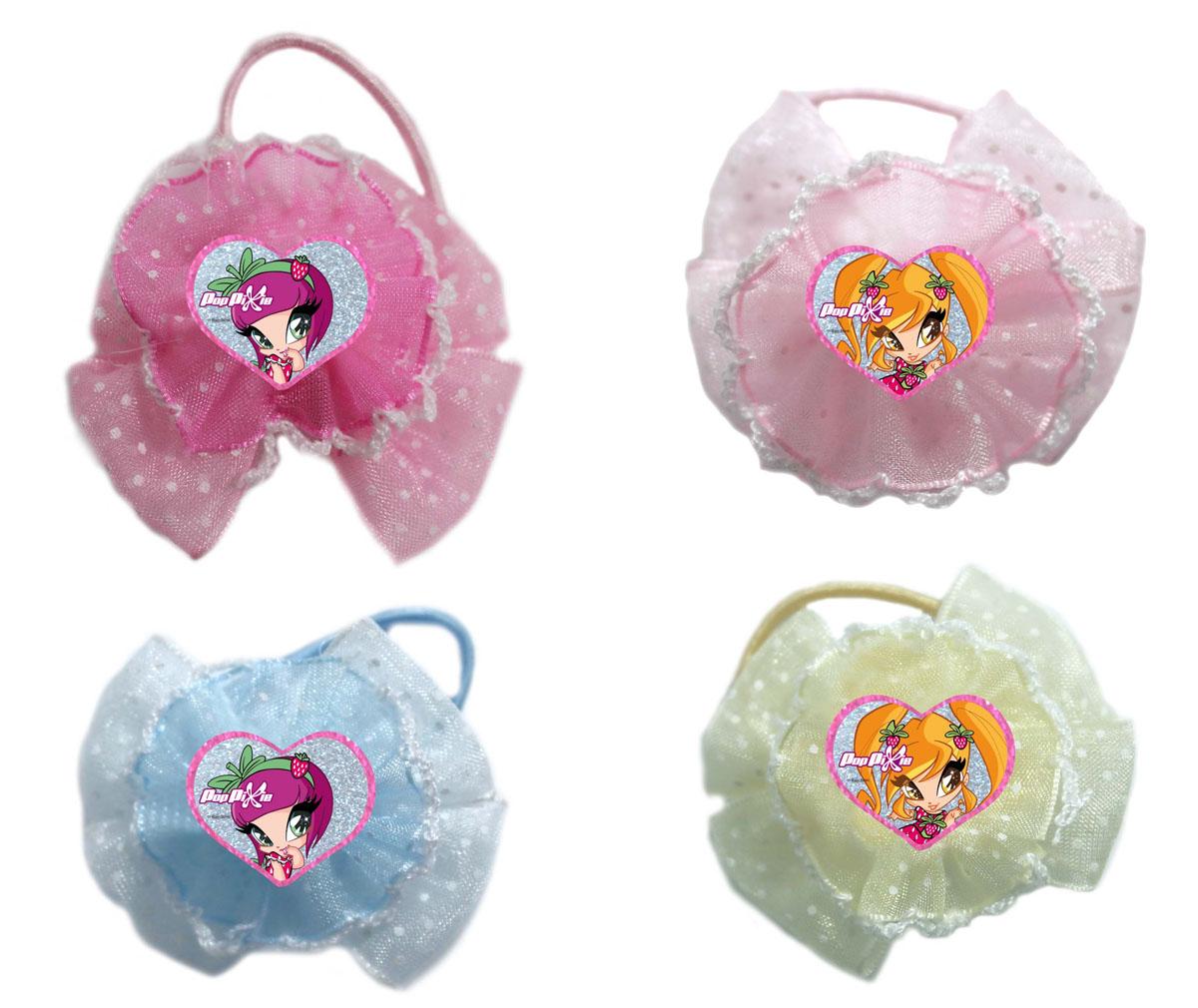 Резинка для волос для девочек PopPixie, цвет: розовый, голубой, 4 шт. 41309
