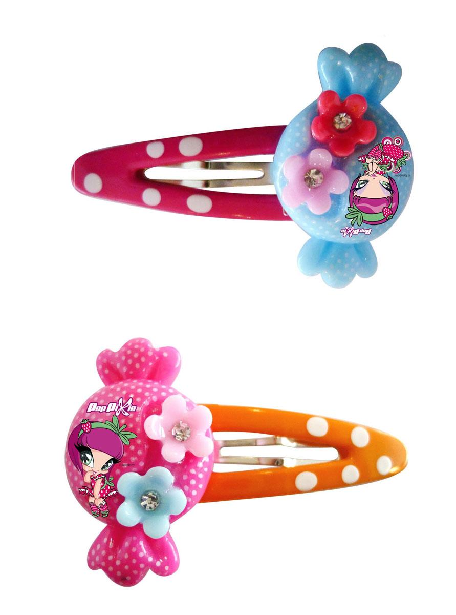 Заколка для волос для девочек PopPixie, цвет: розовый, оранжевый, 2 шт. 41311
