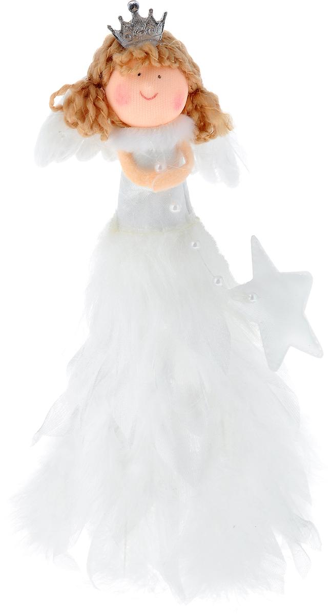 Фигурка декоративная Win Max Ангел, высота 18 см170723Фигурка декоративная Win Max Ангел станет отличным украшением интерьера в преддверии Нового года. Каркас изделия выполнен из полимера. Фигурка выполнена в виде ангела в платье, с крыльями и короной. Платье декорировано натуральными перьями. Красивая новогодняя фигурка создаст в вашем доме атмосферу праздника. Почувствуйте волшебные минуты ожидания праздника, создайте новогоднее настроение вашим родным и близким.