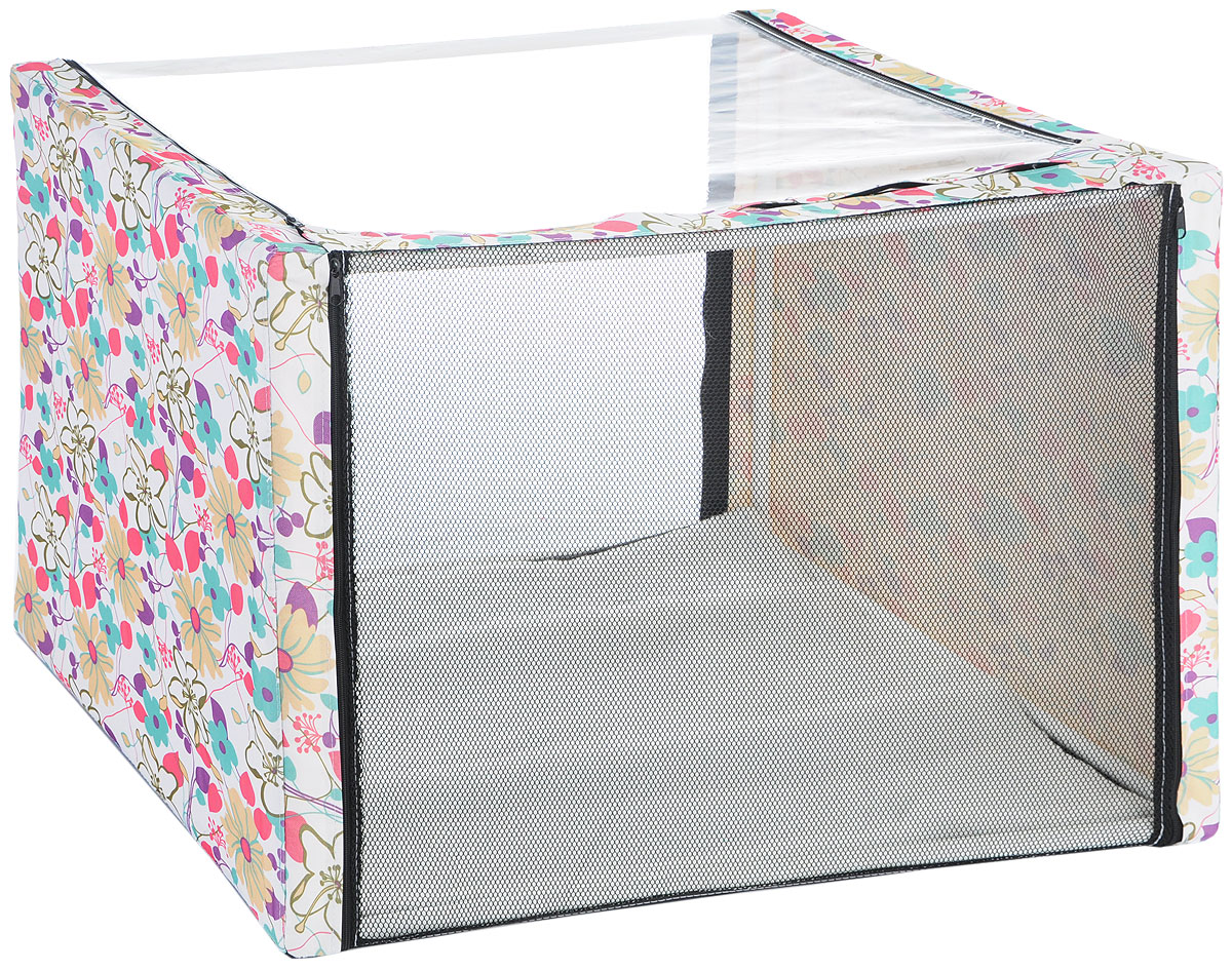 Клетка для животных Elite Valley, выставочная, цвет: белый, голубой, сиреневый, 90 х 70 х 70 смК-12/3Клетка Elite Valley предназначена для показа кошек и собак на выставках. Она выполнена из плотного текстиля, каркас - пластиковые трубки. Клетка оснащена съемной пленкой и съемной сеткой. Внутри имеется мягкая подстилка, выполненная из искусственного меха. Прозрачную пленку можно прикрыть шторкой. В комплекте сумка-чехол для удобной транспортировки.