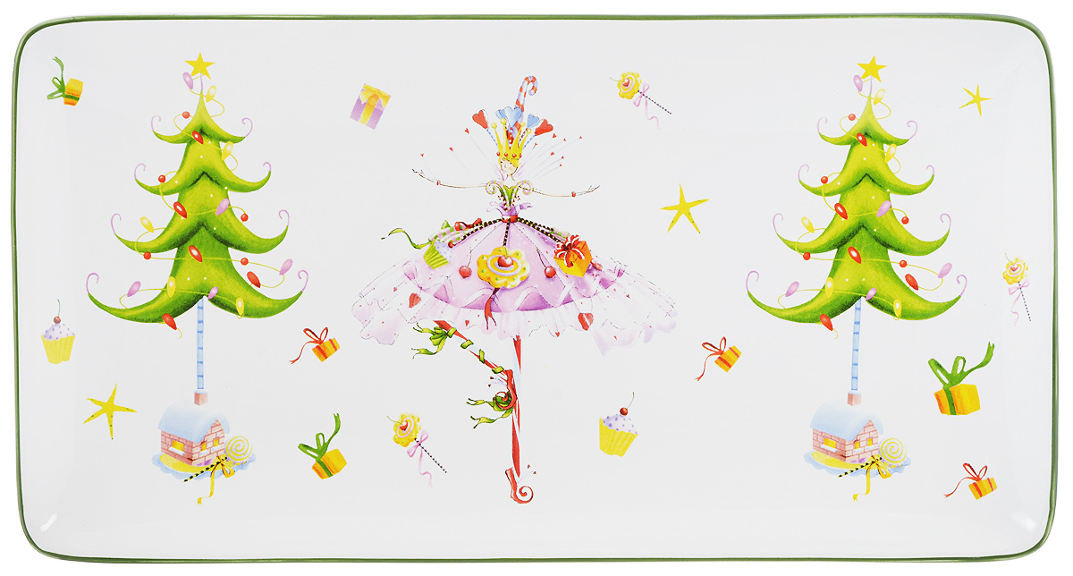 Блюдо Azulejo Espanol Ceramica Dancing Lady, 16,5 х 31,5 см216757-1522..Прямоугольное блюдо Azulejo Espanol Ceramica Dancing Lady, выполненное из высококачественной керамики, оформлено красочным рисунком. Данное блюдо сочетает в себе оригинальный дизайн с максимальной функциональностью, оно отлично подойдет для подачи закусок, сладостей или фруктов. Красочность оформления блюда Azulejo Espanol Ceramica Dancing Lady особенно подойдет для новогоднего торжества.