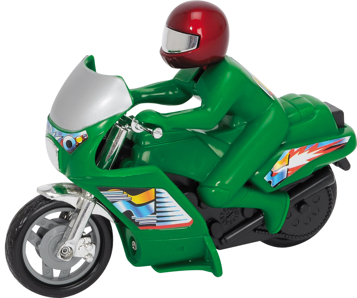 Dickie Toys Мотоцикл Power Bike цвет зеленый