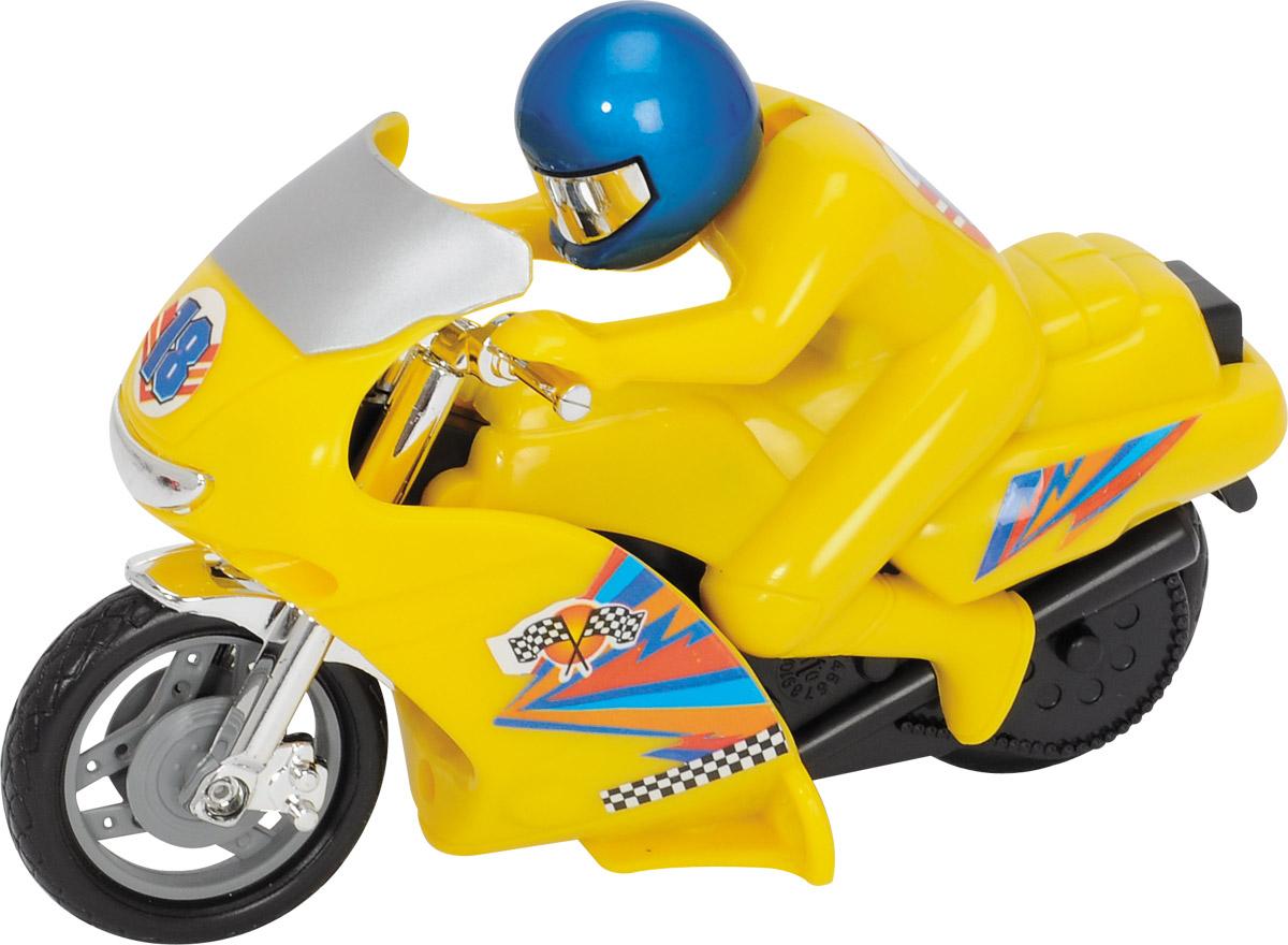 Dickie Toys Мотоцикл Power Bike цвет желтый