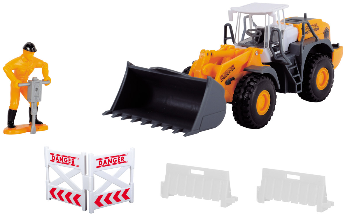 Dickie Toys Колесный погрузчик Road Works dickie toys dickie toys трактор fendt с прицепом