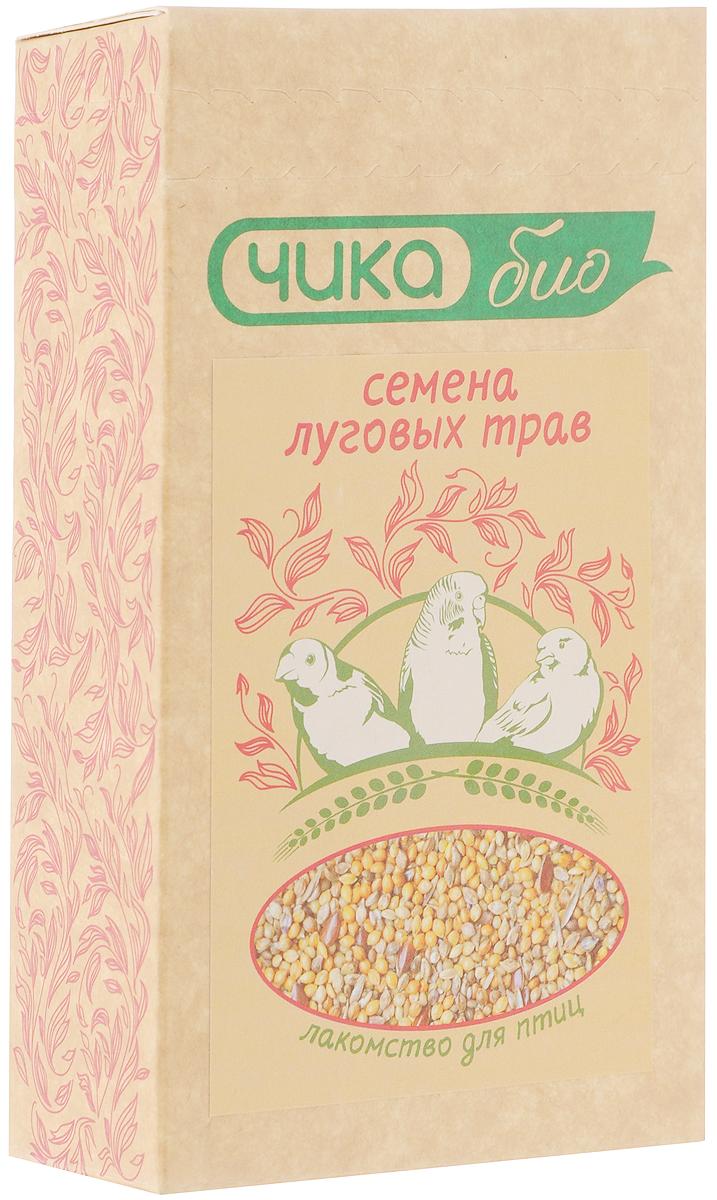 Лакомство для птиц и попугаев Чика-био Семена луговых трав, 200 г корм для птиц vitakraft menu vital для волнистых попугаев основной 1кг