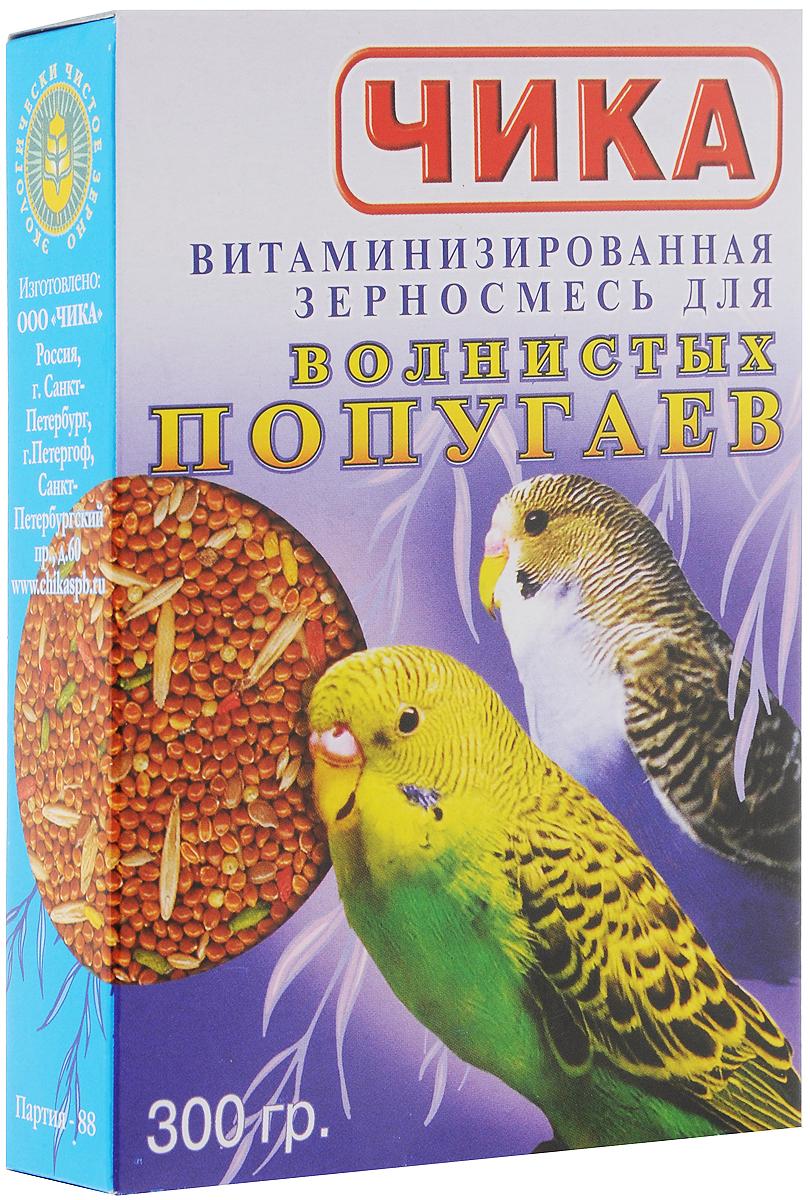 Корм для волнистых попугаев Чика, витаминизированный, 300 г корм чика био для джунгарских хомяков 900 г page 5