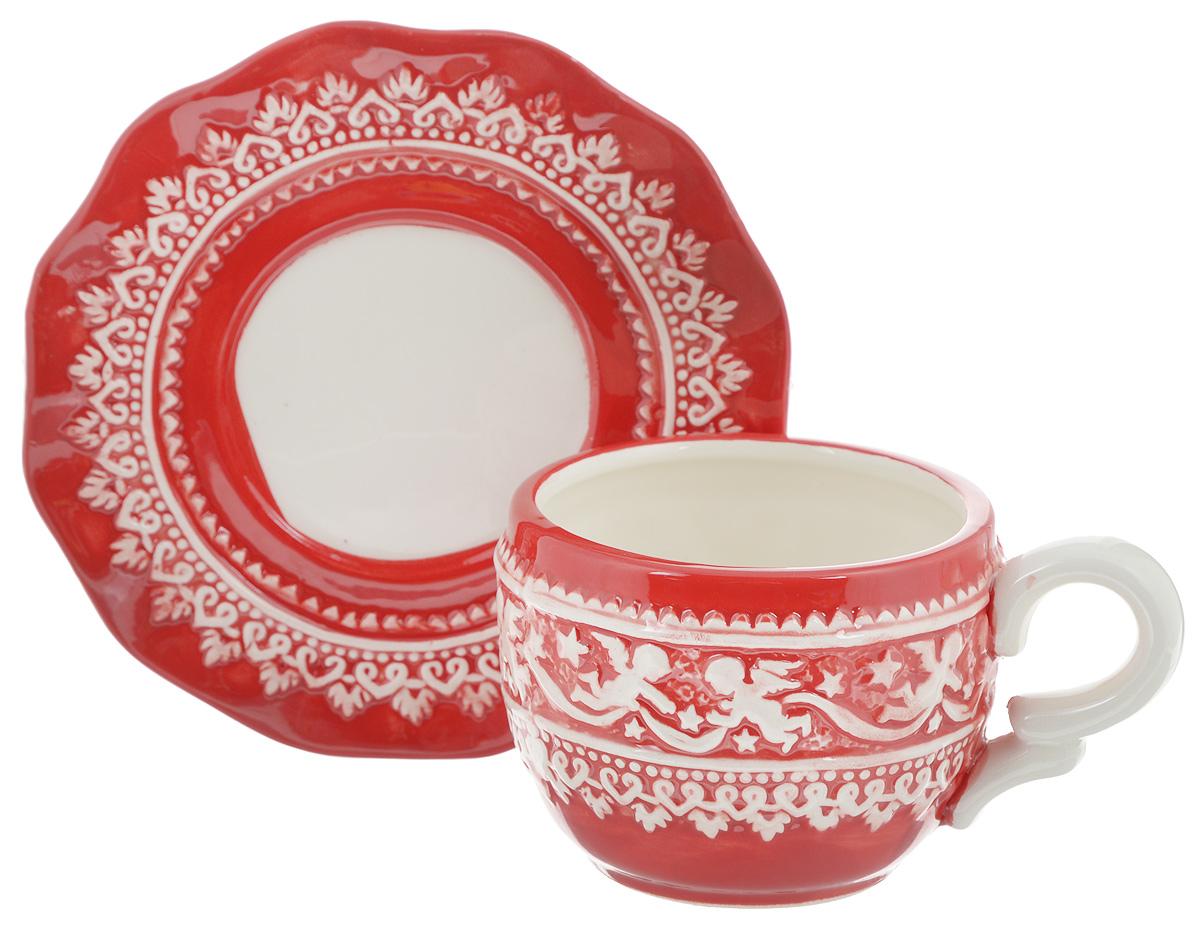 Чайная пара Family & Friends Рождественский узор, 2 предметаNH15B614R..Чайная пара Family & Friends Рождественский узор состоит из чашки и блюдца, изготовленных из высококачественного фарфора. Изделия оформлены в классическом стиле и имеют изысканный внешний вид.Такой набор прекрасно дополнит сервировку стола к чаепитию и подчеркнет ваш безупречный вкус.Чайная пара Family & Friends Рождественский узор - это прекрасный подарок к любому случаю. Объем чашки: 270 мл.Диаметр чашки (по верхнему краю): 8 см.Высота чашки: 7,5 см.Диаметр блюдца: 15 см.Высота блюдца: 1,8 см.Не рекомендуется использовать в микроволновой печи и мыть в посудомоечной машине.