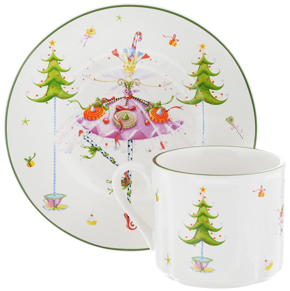 Чайная пара Azulejo Espanol Ceramica Dancing Lady, 2 предмета216749-1522..Чайная пара Azulejo Espanol Ceramica Dancing Lady состоит из чашки и блюдца, изготовленных из высококачественной керамики. Изделия оформлены в классическом стиле и имеют изысканный внешний вид.Такой набор прекрасно дополнит сервировку стола к чаепитию и подчеркнет ваш безупречный вкус.Чайная пара Azulejo Espanol Ceramica Dancing Lady - это прекрасный подарок к любому случаю. Объем чашки: 250 мл.Диаметр чашки (по верхнему краю): 8 см.Высота чашки: 7 см.Диаметр блюдца: 16,2 см.Высота блюдца: 1,7 см.Не рекомендуется использовать в микроволновой печи и мыть в посудомоечной машине.