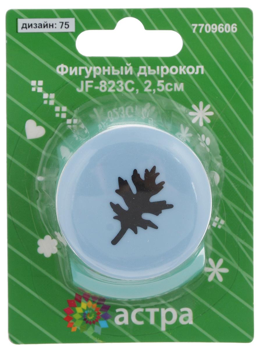 Дырокол фигурный Астра Листок, цвет: голубой, зеленый набор jtc 4038