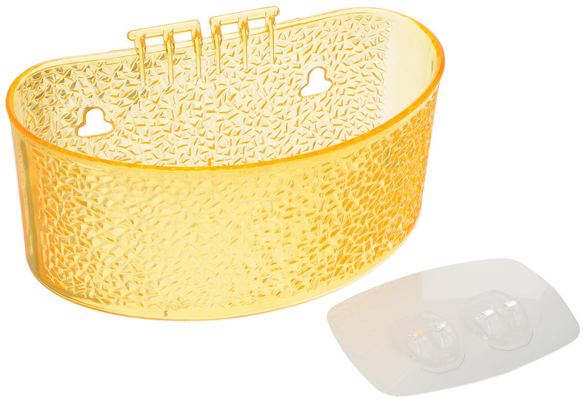 Полка для ванной комнаты Fresh Code, на липкой основе, цвет: желтый, 19 х 10 х 10 см64943_желтыйПолка для ванной комнаты Fresh Code выполнена из ABS пластика. Крепление на липкой основе многократного использования идеально подходит для гладкой поверхности. Полка поможет создать настроение вашей ванной комнаты. Подходит для всех типов гладких поверхностей. Максимальная нагрузка 3 кг.