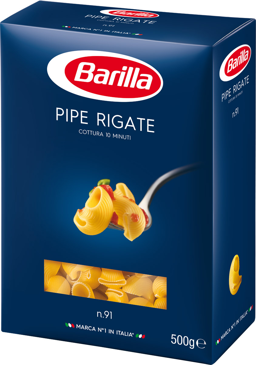 Barilla Pipe Rigate пипе ригате паста, 500 г melissa паста пенне ригате коричневые перья 500 г