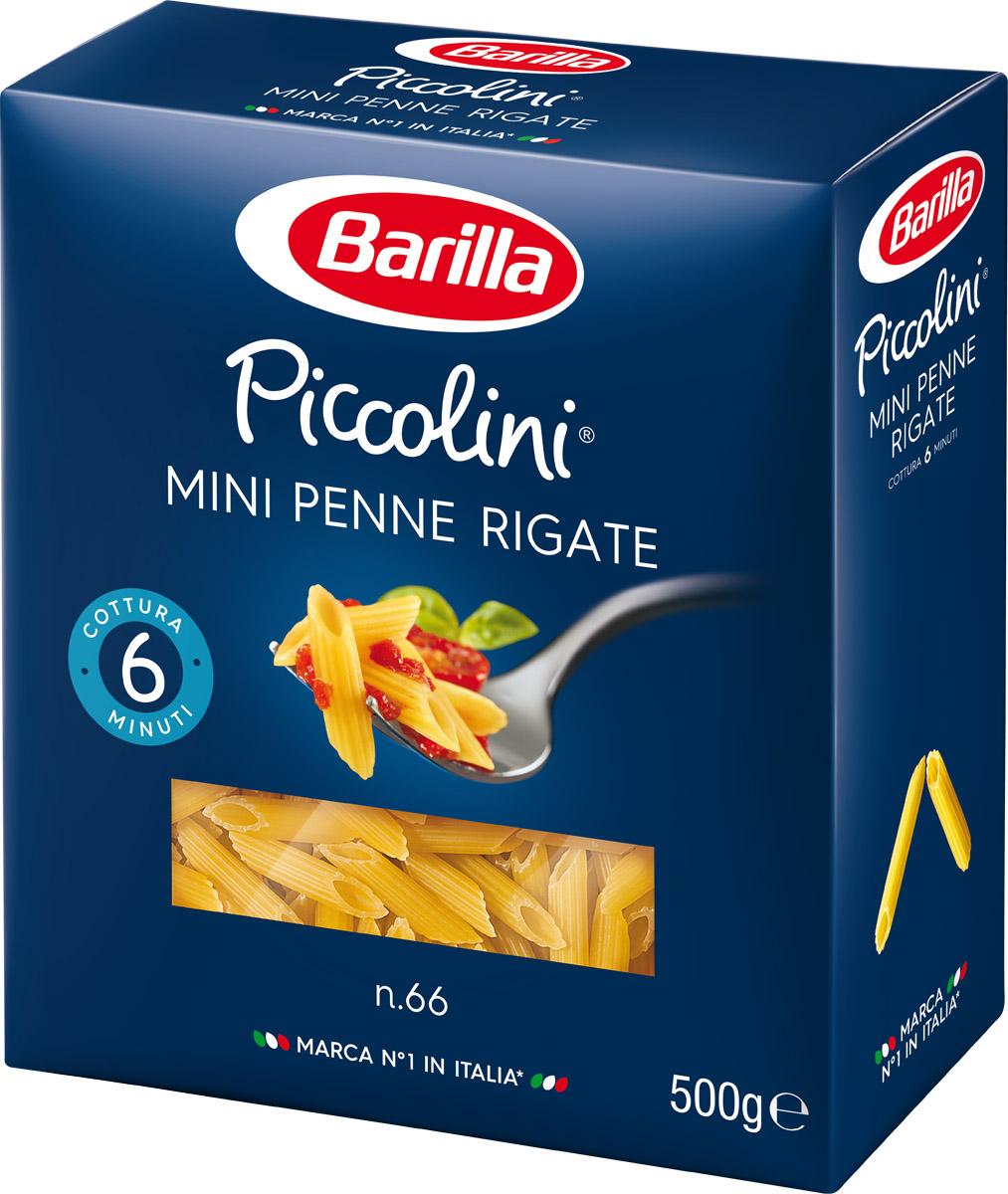 Barilla Mini Penne Rigate паста мини пенне ригате, 500 г melissa паста пенне ригате коричневые перья 500 г