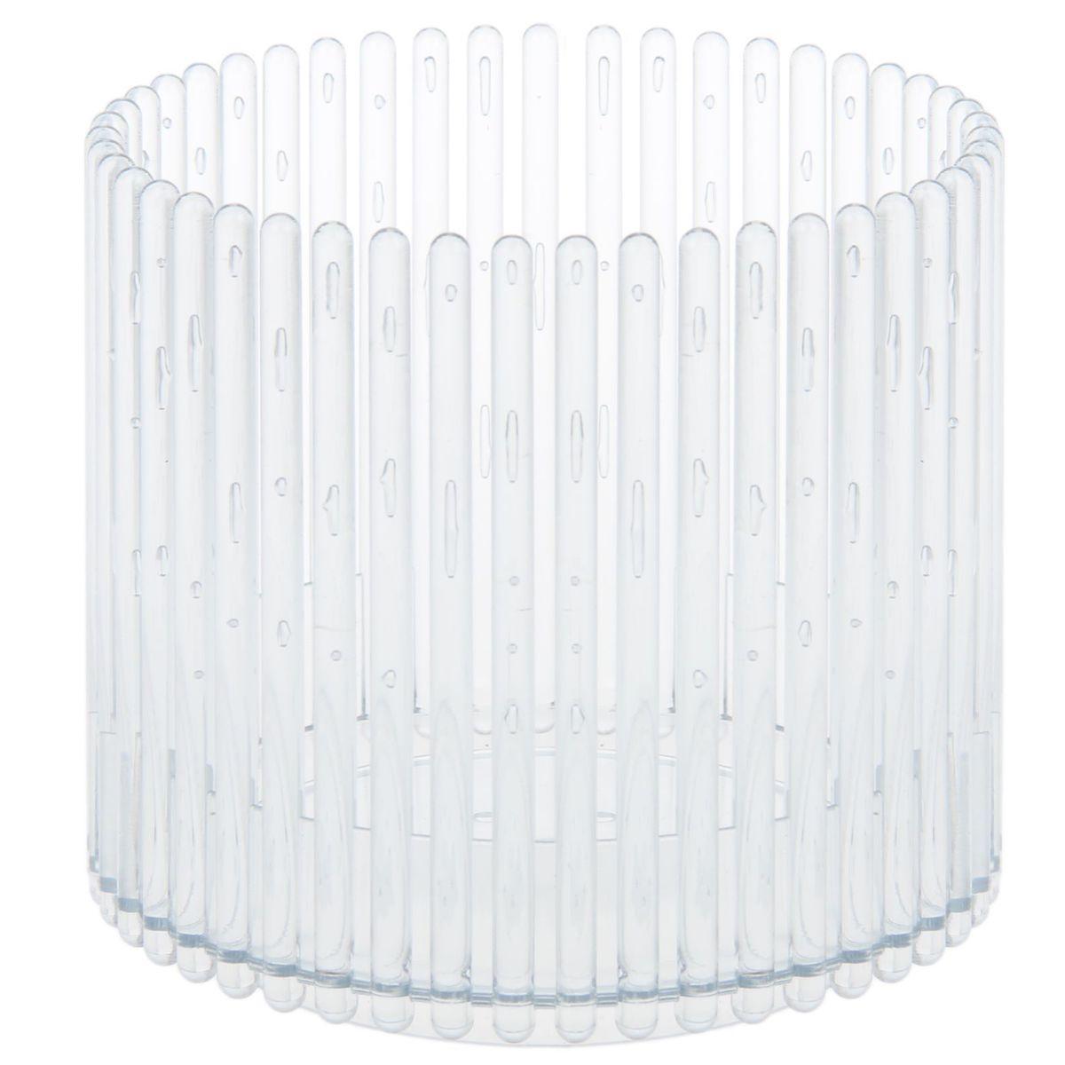 Кашпо JetPlast Шарм, цвет: прозрачный, 14 x 12 см1295397Кашпо Шарм изготовлено из поликарбоната. Изделие имеет уникальную конструкцию: бортик в нижней части кашпо дает возможность создания у корней орхидеи благоприятную влажность, а сквозная конструкция стенок кашпо дает возможность беспрепятственному проникновению света на корни растения и их вентиляцию. Стильный яркий дизайн сделает такое кашпо отличным дополнением интерьера.