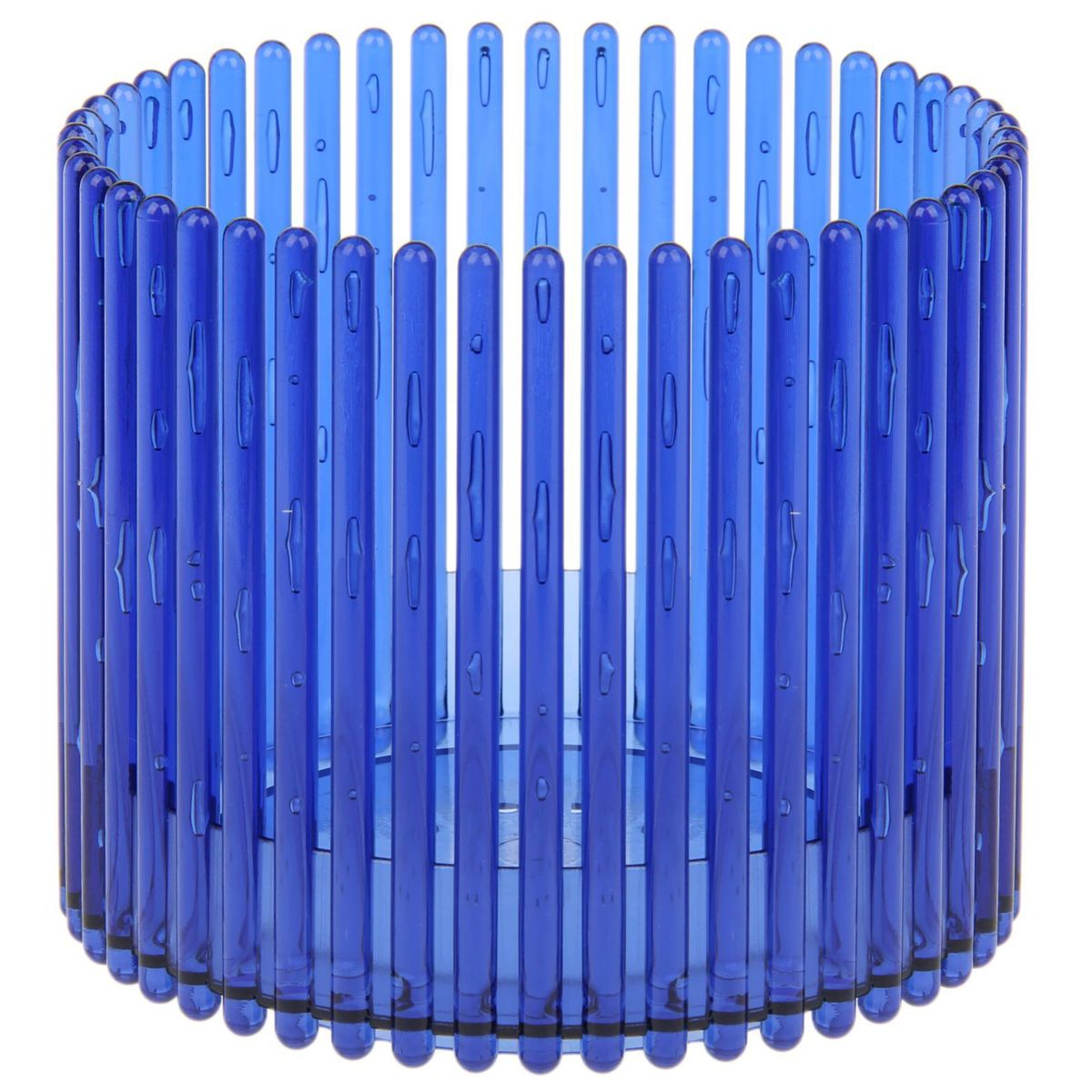 Кашпо JetPlast Шарм, цвет: синий, 14 x 12 см4612754052004Кашпо Шарм изготовлено из поликарбоната. Изделие имеет уникальную конструкцию: бортик в нижней части кашпо дает возможность создания у корней орхидеи благоприятную влажность, а сквозная конструкция стенок кашпо дает возможность беспрепятственному проникновению света на корни растения и их вентиляцию. Стильный яркий дизайн сделает такое кашпо отличным дополнением интерьера.