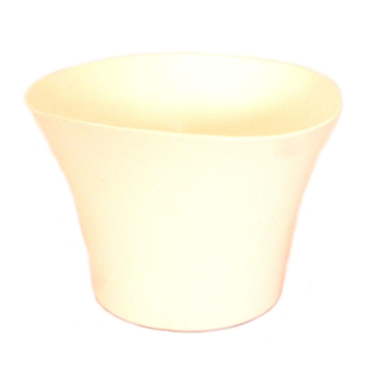 Кашпо JetPlast Волна, цвет: белый, 600 мл4612754051410Кашпо Волна имеет уникальную форму, сочетающуюся как с классическим, так и с современным дизайном интерьера. Оно изготовлено из прочного полипропилена (пластика) и предназначено для выращивания растений, цветов и трав в домашних условиях. Такое кашпо порадует вас функциональностью, а благодаря лаконичному дизайну впишется в любой интерьер помещения. Объем кашпо: 600 мл.