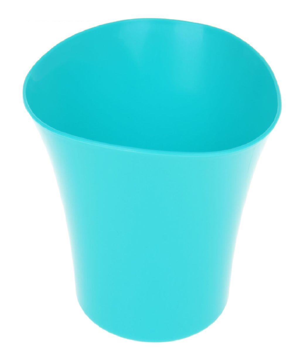 Кашпо JetPlast Волна, цвет: бирюзовый, 1,5 л4612754051885Кашпо Волна имеет уникальную форму, сочетающуюся как с классическим, так и с современным дизайном интерьера. Оно изготовлено из прочного полипропилена (пластика) и предназначено для выращивания растений, цветов и трав в домашних условиях. Такое кашпо порадует вас функциональностью, а благодаря лаконичному дизайну впишется в любой интерьер помещения. Объем кашпо: 1,5 л.