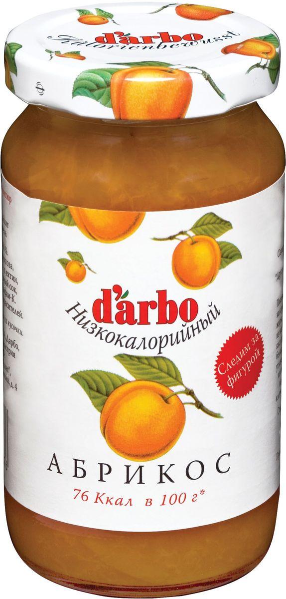 Darbo конфитюр абрикос низкокалорийный, 220 г конфитюр zuegg экстра абрикос 320г